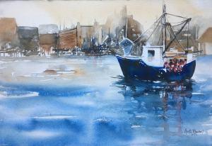 Blue Boat - After Schaller