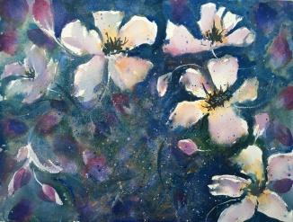 """Cherry Blossoms12"""" x 16"""" - Original $300"""