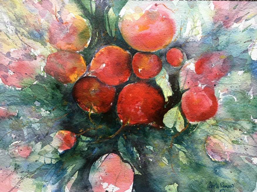 "Beautiful Radishes9"" x 12"" - Original: $100"