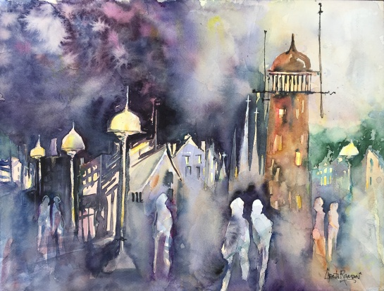 "Bewitching Hour On Munjoy Hill14"" x 21""- Original $200"