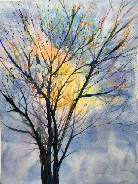 "Bill Roche's Tree14"" x 11""- Original Sold"