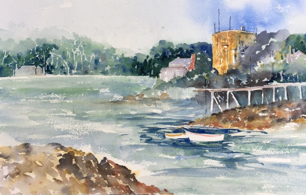 "New Harbour Fort, Maine20"" x 14"" - Original $300"
