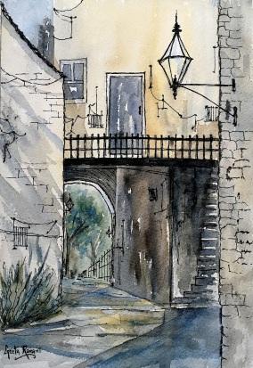"""Doorways in Italy10"""" x 7"""" - Original $130"""