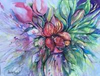 "Flower Explosion11"" x 14""- Original $100"