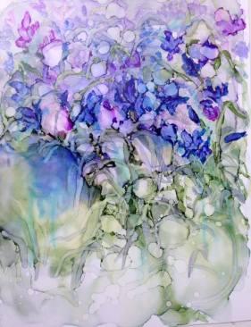 "Irises - An Impression 13"" x 10"" - Original: Sold"