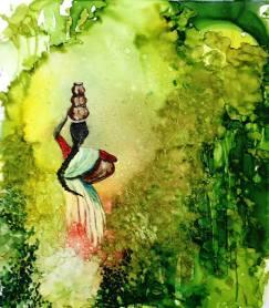 """Jungle Book 10"""" x 9"""" - Original: $100"""
