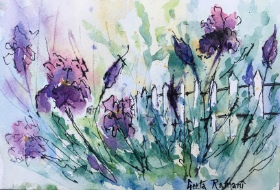 "Laura's Garden, an Impression7"" x 5"" - Original $100"