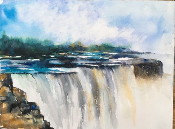 "Memories Of Niagara Falls10"" x 14""- Original Sold"