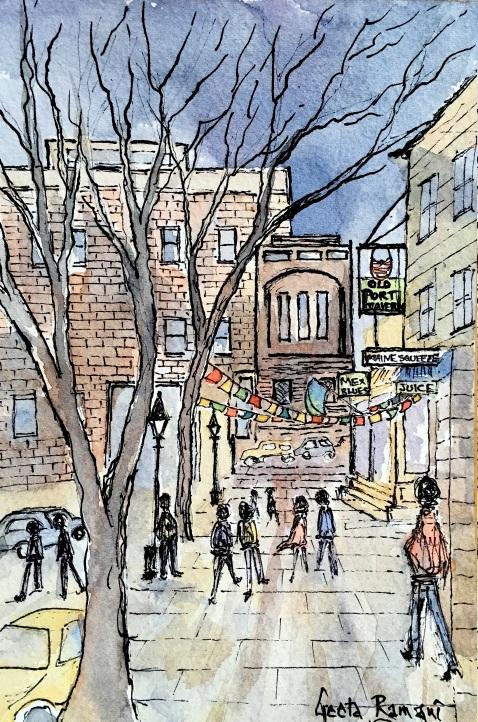 Old Port Tavern - Sketch