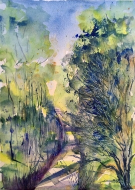 "Painting for Usha11"" x 9.5"" - Original Sold"