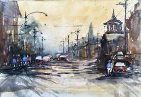 "Portland West End, Alvaro Wannabe20"" x 14""- Original $250"
