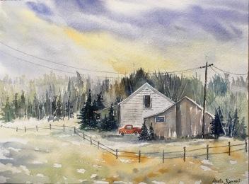 "Somewhere in Maine12"" x 9"" - Original $150"