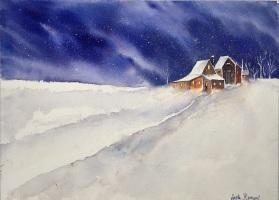 "Somewhere in Maine14"" x 16"" - Original Sold"