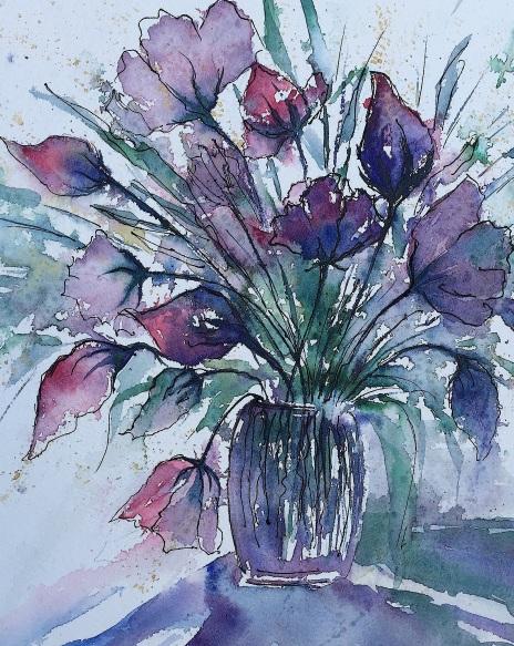 "Spring in a Vase12"" x 9"" - Original $200"
