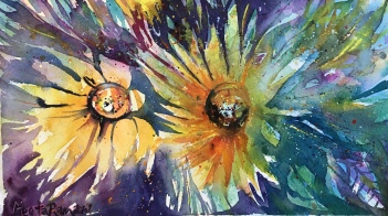 "Sunburst10"" x 5.5"" - Original $75"
