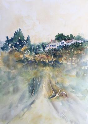 """Beach Home, New Harbour, Maine20"""" x 14"""" - Original $300"""