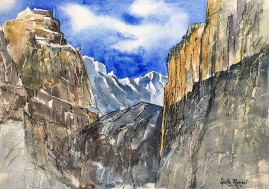 "The Alps - Take 116"" x 12"" - Original Sold"