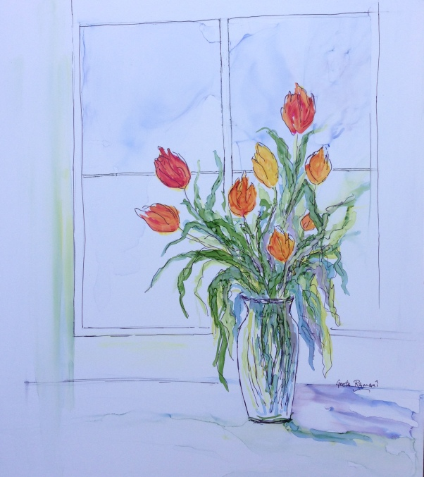 Tulips by my Window