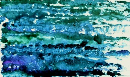 "Waves 6.5"" x 4"" - Original $60"