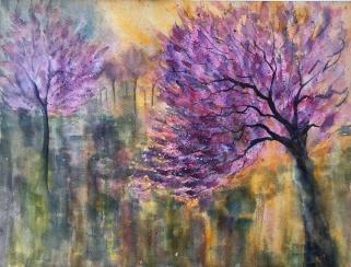 "Cherry BlossomTime!12"" x 16"" - Original Sold"