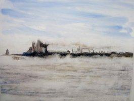 Oil Tanker in the Fog