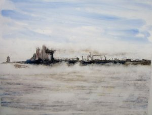 Oil Tanker in the Fog