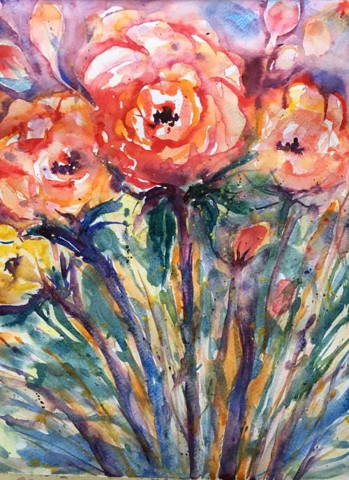 """Christmas Roses14"""" x 11""""- Original $125"""