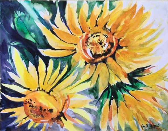 "Sonnenblumen!11"" x 14""- Original $220"