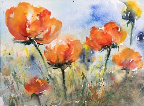 "Splendour in the Grass11"" x 14""- Original Sold"