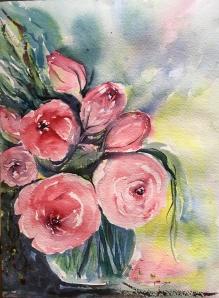 """Barbara's Roses 312""""x9""""- Original Sold"""