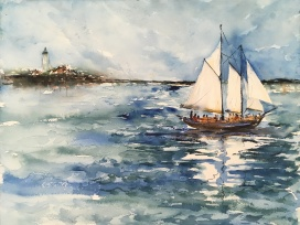 "Jack's Atlantic Cup Sailing12""x16""- Original Sold"