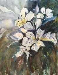 "Donner's Casa Blanca Lilies16""x12""- Original $280"