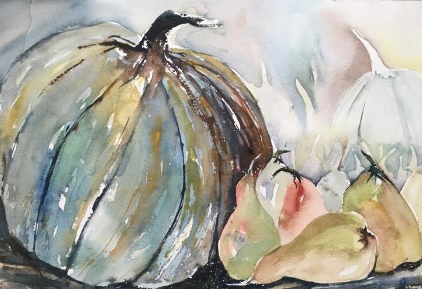 Harvest Squash With Pears- Original $100