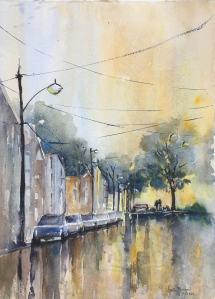 Evening Rain In Sumner Park
