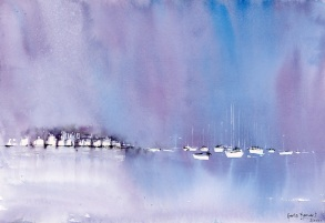 Foggy Twilight on the Marina