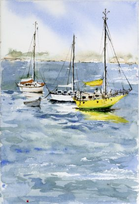 Boats on Eastern Prom - Sold
