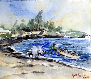 "Nautical Stuff at Kettle Cove8""x9""- Original - 80"