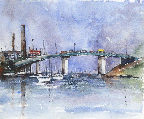 """Tukey's Bridge8""""x9""""- Original - 80"""